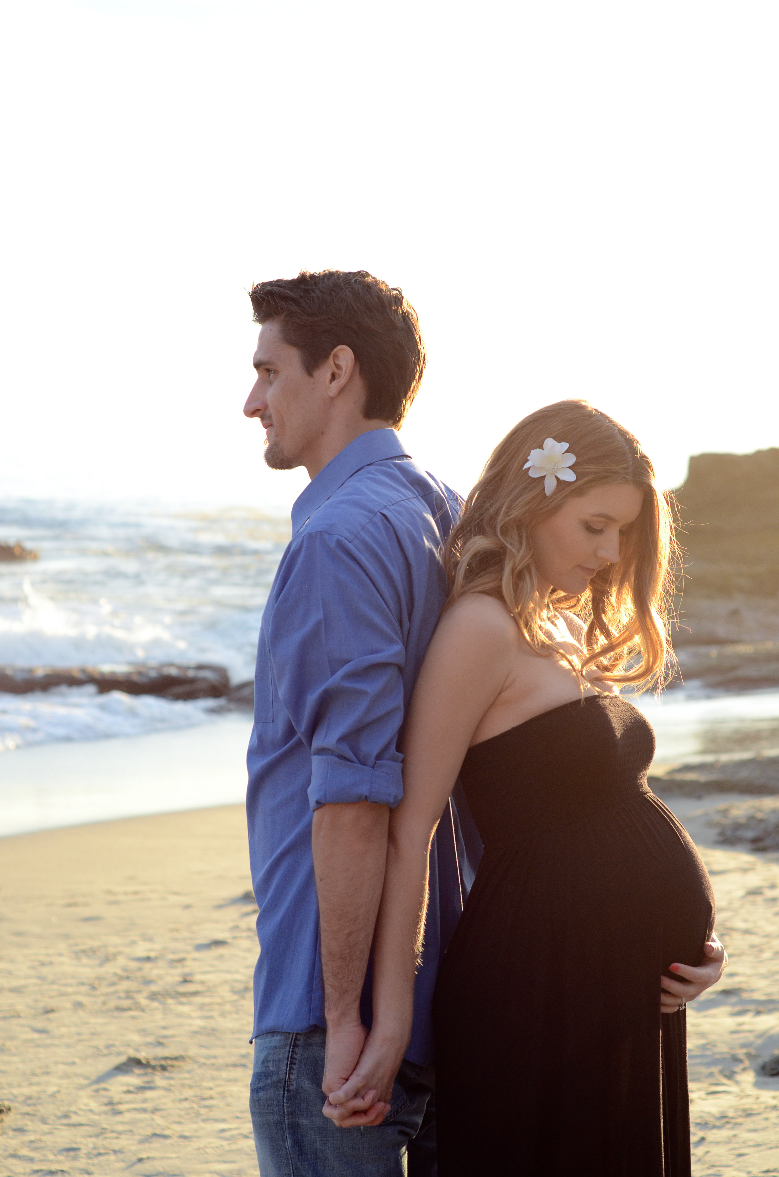 Beach Maternity Shoot S A N D Y N E S H Photography